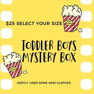 Toddler Boy Mystery Box! Will have great brands